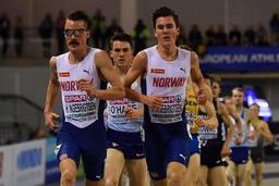 Euro d'athlétisme en salle - Jakob Ingebrigtsen titré sur 3.000m, son frère Henrik, 3e