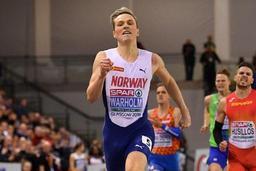 Euro d'athlétisme en salle - Record d'Europe égalé (45.05) pour le Norvégien Karsten Warholm sur 400m