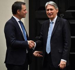 Alexander De Croo voit le risque d'un Brexit chaotique s'estomper