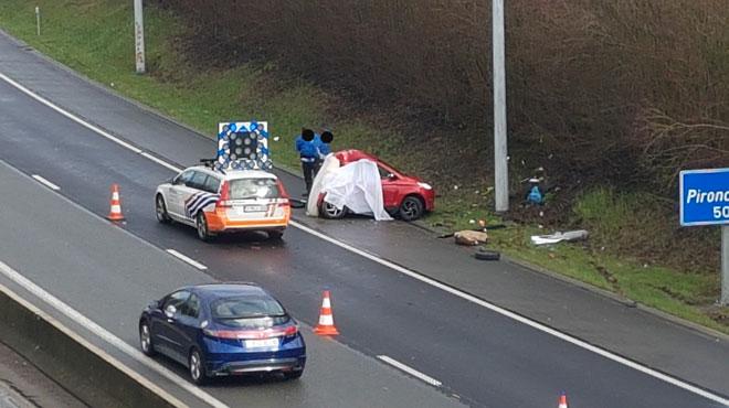 Tragique accident sur la N90: l'occupant d'une voiture
