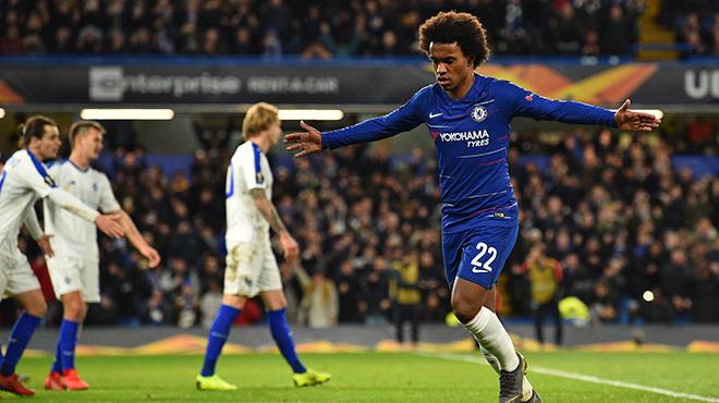 Europa League: Chelsea et Naples assurent et prennent une option sur les quarts de finale