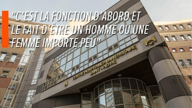 6 postes de direction sur 11 sont occupés par des femmes au CHU Saint-Pierre, sans règle ni quota: comment l'hôpital fait-il?