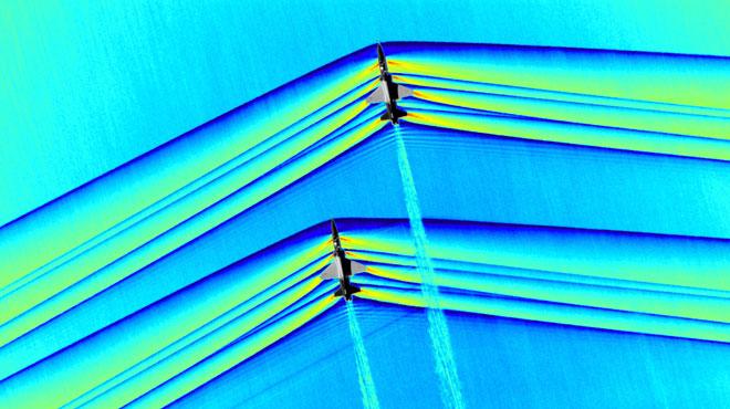 Photos inédites de la NASA: elles révèlent les ondes de choc provoquées par des avions qui passent le mur du son