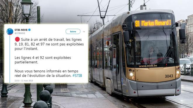 Transports perturbés à cause d'une grève spontanée à la Stib: