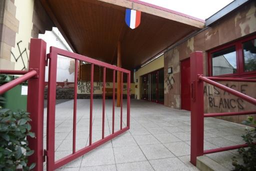 Bas-Rhin: les murs d'une mairie recouverts de tags racistes et antisémites
