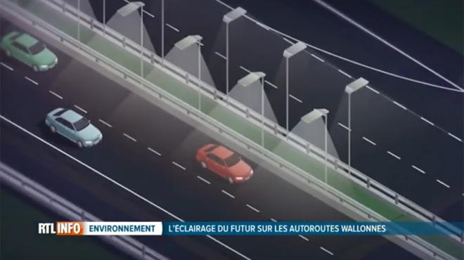 Découvrez à quoi ressemblera l'éclairage du FUTUR sur les autoroutes wallonnes