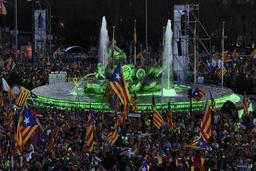 Crise en Catalogne - Marche des indépendantistes catalans à Madrid