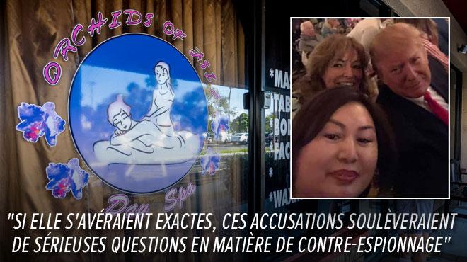 La propriétaire de salons de massages devient l'amie gênante de Trump