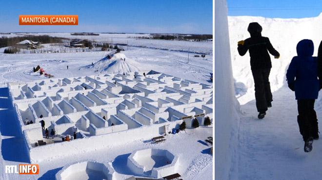 Découvrez le plus grand labyrinthe de neige du monde: Clint, un agriculteur, raconte sa conception