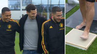 De grands sportifs belges laissent leurs empreintes pour le walk of fame de la future Golden Generation Arena (vidéo) 3