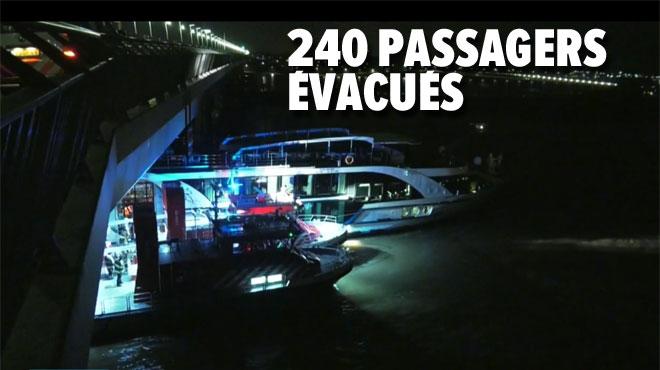 Un navire de croisière néerlandais emboutit un cargo en pleine nuit avant de percuter un pont