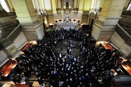 La Justice dans un état de délabrement comparable à celui du Palais de Bruxelles