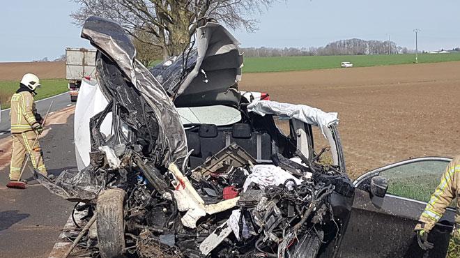 Dramatique accident mercredi matin sur la N40: un homme de 27 ans perd la vie