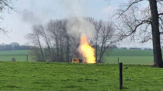 Torchère d'air liquide à Braine-le-Comte- 20 km de conduites à évacuer... 1