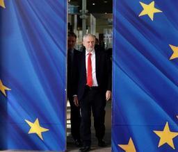 Le leader de l'opposition travailliste Jeremy Corbyn également à Bruxelles