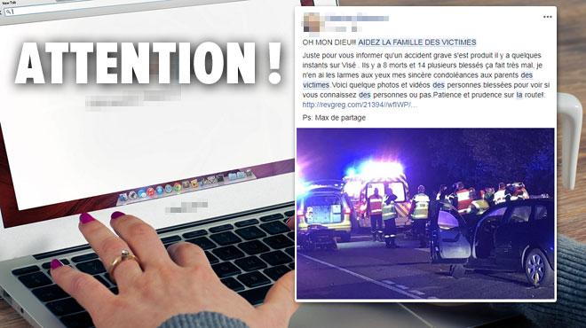 Des hackers font croire à un accident près de Liège, photos à l'appui, pour vous escroquer: ne cliquez surtout pas