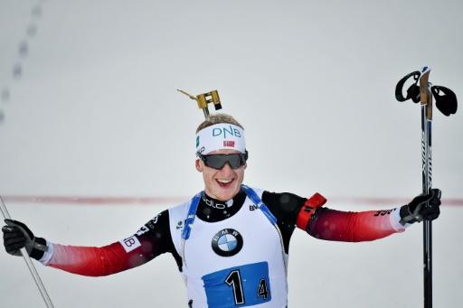 Biathlon: le Norvégien Johannes Boe bat le record de victoires sur une saison (15)