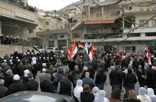 Au Golan occupé par Israël, des Druzes manifestent contre les propos de Trump