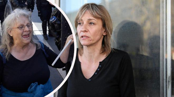 La fille de la manifestante âgée de Nice: