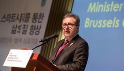 Rudi Vervoort à la pêche aux idées pour Bruxelles à Séoul