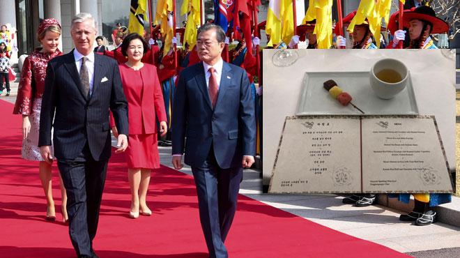 Visite du roi Philippe et de la reine Mathilde en Corée du Sud: voici ce qu'il y avait au menu du dîner d'Etat (photo)