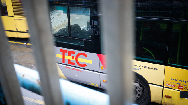 Perturbations au niveau des TEC à Liège: certains chauffeurs participent à une manifestation contre le dumping social