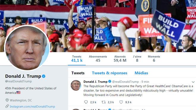 Voici comment Twitter envisage de gérer les tweets agressifs ou insultants du président Donald Trump