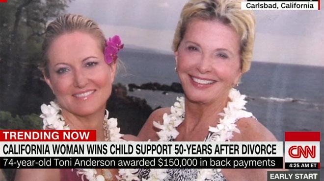 Etats-Unis: 50 ans après le jugement, elle obtient enfin une pension alimentaire pour sa fille
