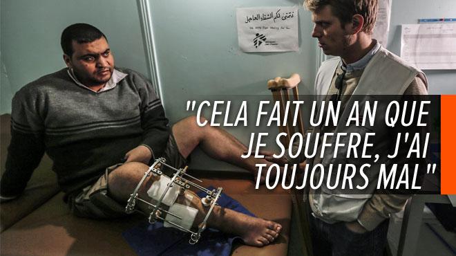 Les blessés oubliés de Gaza: Ezzedine ne remarchera plus jamais comme avant depuis qu'il a reçu un tir de soldat israélien
