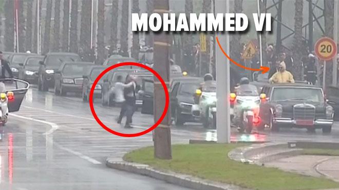 Grosse frayeur au Maroc lors de la visite du pape: un individu se rue sur la voiture du Roi