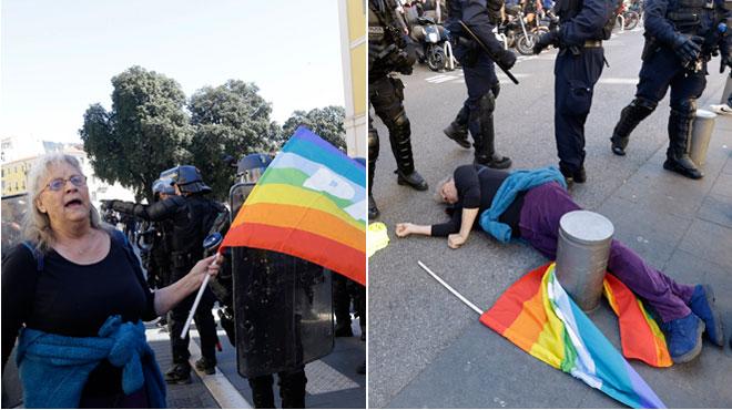 Manifestante de 73 ans blessée en France: le policer qui l'a bousculée