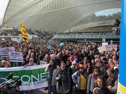7.000 personnes manifestent à Liège pour défendre le climat