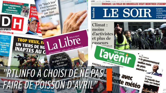 Les aviez-vous repérés? Voici les poissons d'avril publiés dans la presse belge francophone