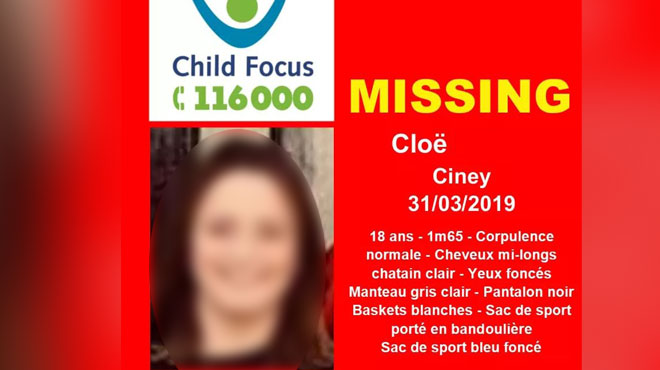 Cloë, 18 ans, avait disparu à Ciney: elle a été retrouvée saine et sauve