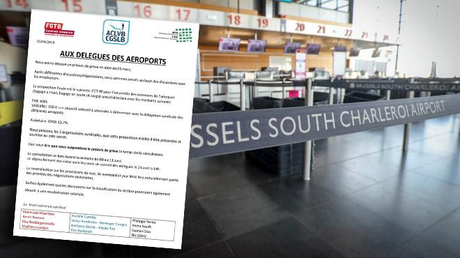 Arrêt de travail spontané à l'aéroport de Charleroi:
