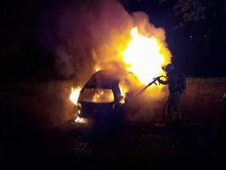 Un véhicule en feu sur un parking de la citadelle de Namur