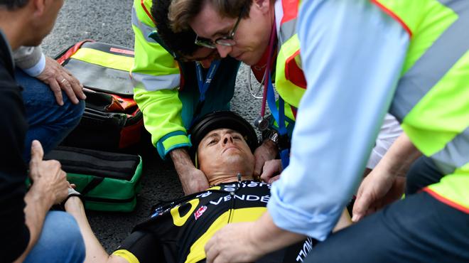 Tour des Flandres Niki Terpstra vainqueur en 2018 contraint à l'abandon après une lourde chute