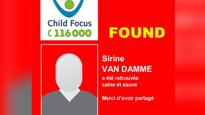 Sirine, 15 ans, avait disparu à Bruxelles: elle a été retrouvée saine et sauve