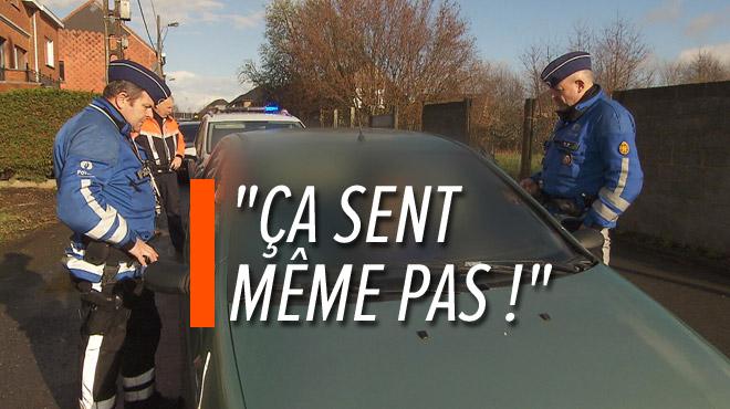 Le policier répond à l'étrange excuse d'un drogué au volant: