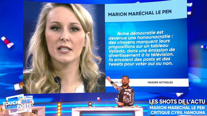 Attaqué par Marion Maréchal Le Pen, Cyril Hanouna réplique: