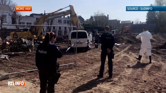 Un squelette découvert sur un chantier à Mons