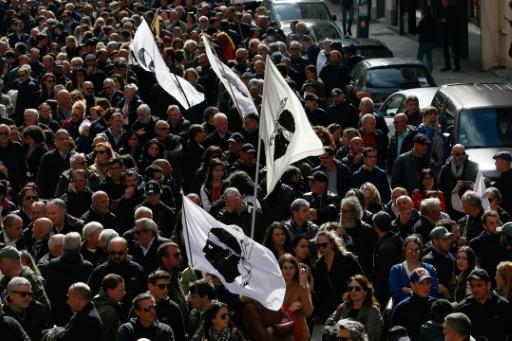 Manifestation à Bastia pour dénoncer le sort réservé aux prisonniers nationalistes corses