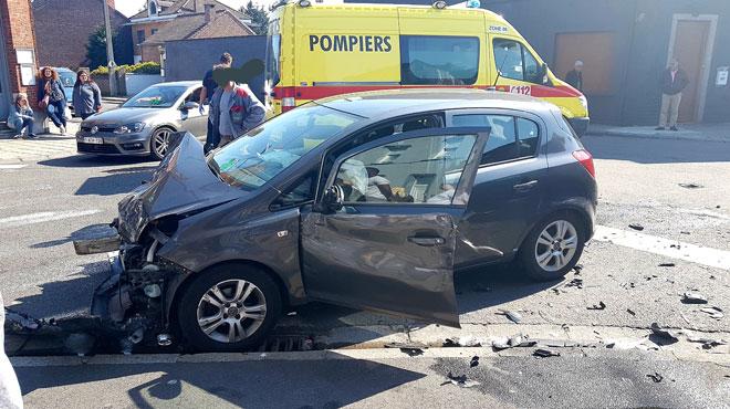 Jumet: trois blessés dans un accident de la route