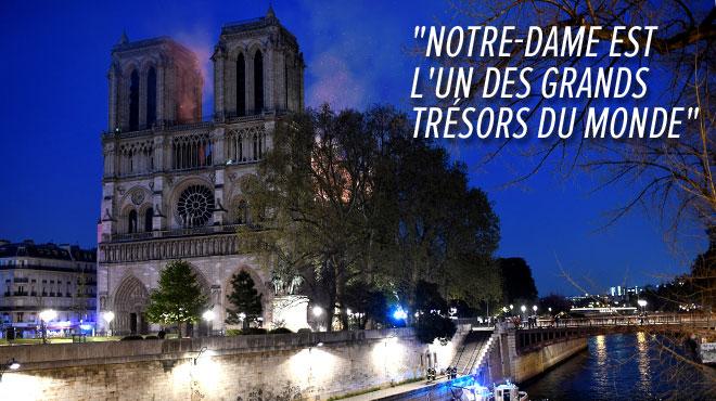Le monde entier pleure Notre-Dame de Paris: