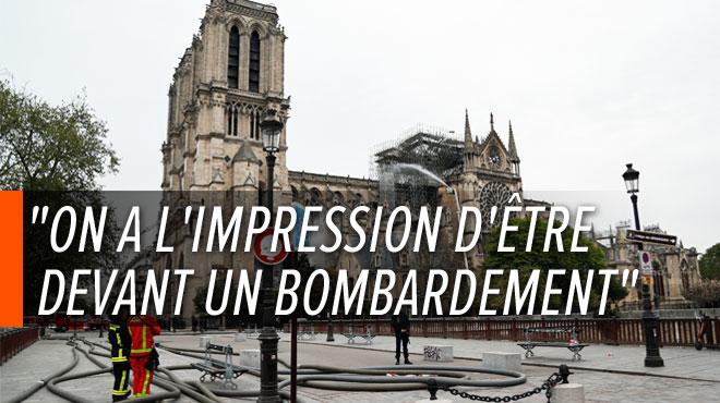Paris: l'un des premiers à être entré dans la cathédrale de Notre-Dame décrit le chaos