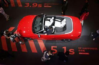 Salon auto de Shanghai- fébrilité face à la crise chinoise, l'électrique étincelle