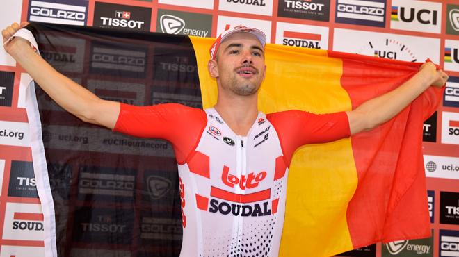 Victor Campenaerts après son record de l'heure: