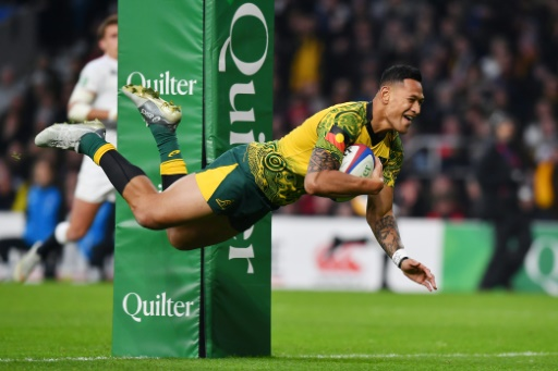 Rugby: après ses injures homophobes, l'Australien Folau conteste la résiliation de son contrat
