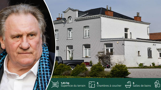 Gérard Depardieu vend sa villa à Néchin pour 800.000 €: visite guidée (photos)
