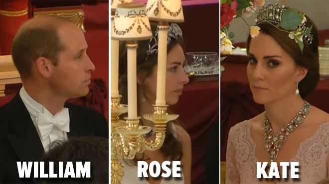 Des images de la supposée maîtresse du prince lors d'un banquet avec Kate et William refont surface (vidéo)